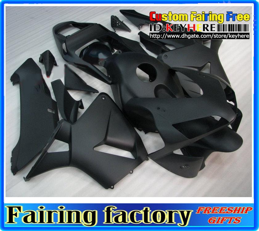 인젝션 ABS 페어링 2003 년 CBR600RR CBR 600RR 03 04 페어링 매트 블랙 바디, 선물 2 개
