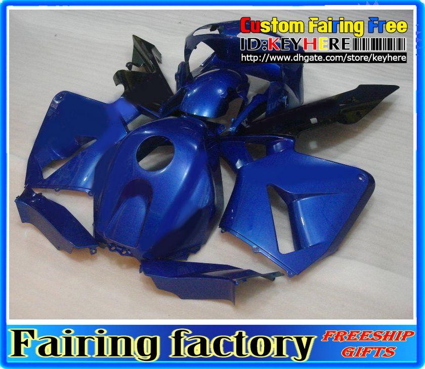 Carénage ABS bleu foncé pour 2003 2004 CBR600RR CBR 600RR 03 04 Carénage de carénage, 2 cadeaux