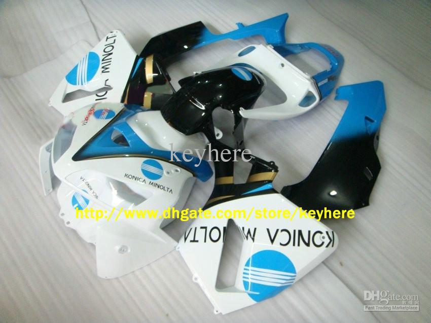 하이 그레이드 인젝션 CBR600RR 2005 2006, CBR 600RR 600 RR 05 06 화이트 / 블루 ABS 페어링