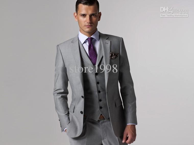 Classic Men\'S Suits Groom Tuxedos 2014 Groomsman Bridegroom Wedding ...