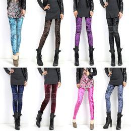 Wholesale Ladys Sexy - Wholesale - Womens Ladys Diamond Velvet Sexy Soft Stretch Leggings Slim Fit Pants Tights