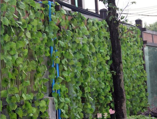 best selling High simulation large vines of grape vine leaves artificial silk flowers home garden Decor 60pcs