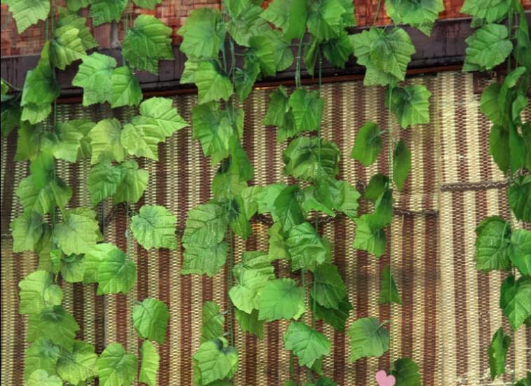 2.4M lungo L'alta simulazione di grandi vigne di foglie della vite artificiali fiori di seta vite giardino di casa Decor
