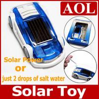 ingrosso ibrido solare-5pcs / lot Green Energy Power Toy-Solar acqua salata Hybrid Car Toy per i bambini regalo di Natale sale solare