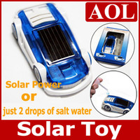 Wholesale Wholesale Water Salt - 5pcs lot Green Energy Power Toy- Solar & Salt Water Hybrid Car Toy for Children Gift Christmas Solar & salt