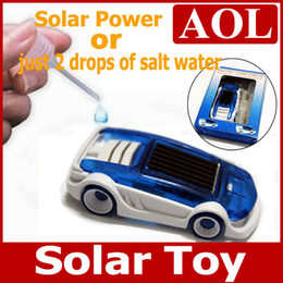 Wholesale Toys Sold Christmas - Hot Selling Small solar power toy car solar gift Educational Toy children Christmas birthday gift