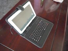 2019 estilos del libro caso de ipad Funda con teclado para tablet PC de 9 pulgadas sanei N91 / ampe A96