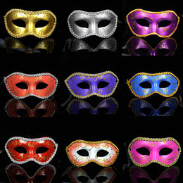 Wholesale Masquerade New Years Masks - 057 masquerade costume party new year christmas halloween dance women sexy mix face mask venetian masks