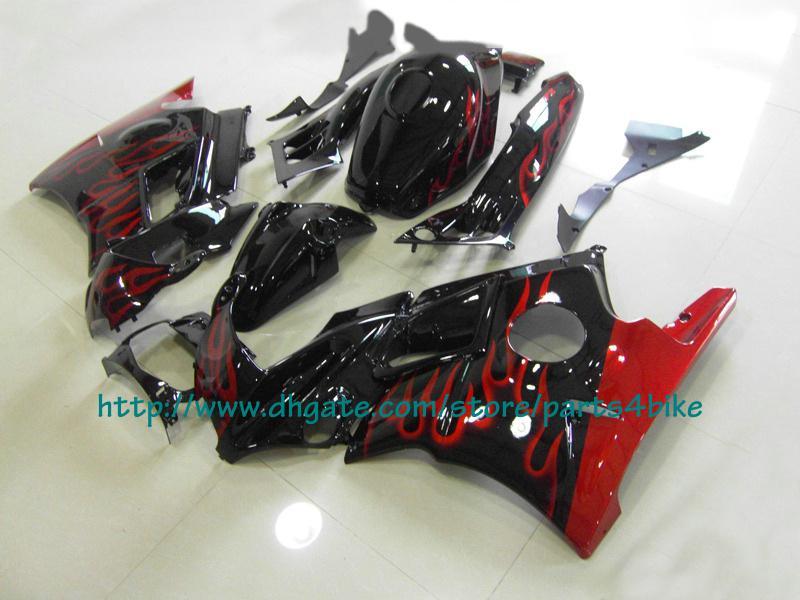 Kit de corpos de carenagem de chamas de vinho vermelho para Honda CBR600 F2 1997 1997 CBR 600 F3 CBR-600 F3 97 98 RX2x