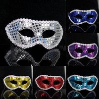 Wholesale Sequin Masks - 062 multicolor costume party halloween masquerade performing masks women dot sequins cardin mask free shipping promotion