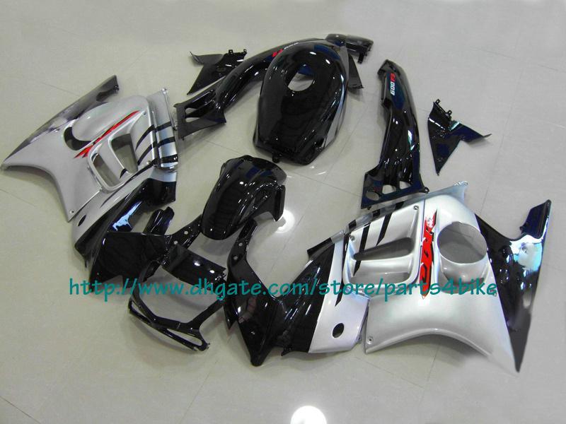 Corpo de prata personalizado corrida carenagem kit para Honda CBR600 F3 1995 1996 CBR 600 F3 CBR-600 F3 95 96 RX2c
