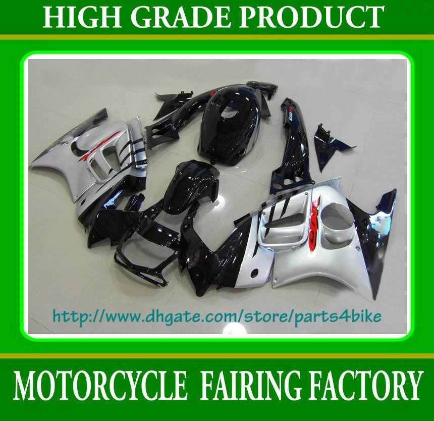 Kit carena custom race argento Honda CBR600 F3 1995 1996 CBR 600 F3 CBR-600 F3 95 96 RX2c