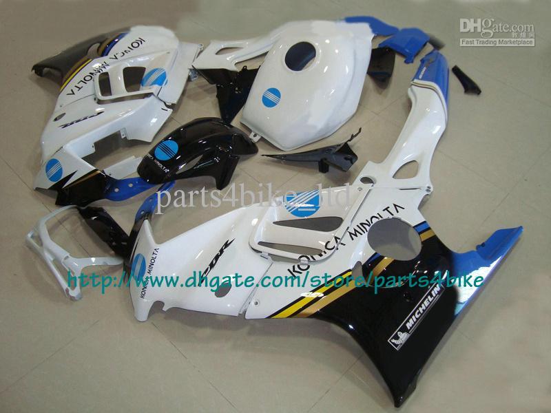 Honda CBR600 için mavi beyaz özel yarış kaporta kiti 1997 1997 CBR 600 F3 CBR-600 F3 97 98 RX2a