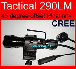 Wholesale Offset Mini - 45 degree offset Picatinny barrel Mount Tactical Ultrafire CR123A ICR123A CREE R2 6P Flashlight G2 E2 M2 Z2