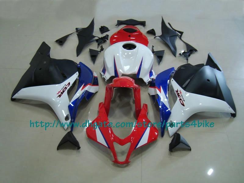 Ensemble de carénage ABS rouge noir blanc Injection pour Honda 2009 10 carénages CBR 600RR CBR600 F5 09 10 RX4x