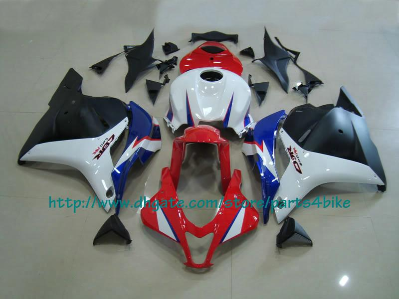Preto vermelho branco ABS carenagem set Injeção para Honda 2009 10 CBR 600RR CBR600 F5 09 10 carenagens RX4x
