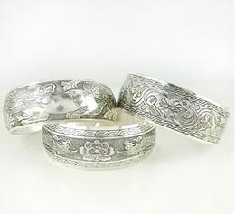 Wholesale New Tibetan Tibet Silver - 2013 New Tibetan Tibet Silver Totem Bangle Cuff Bracelet Cuff Jewelry ZM1