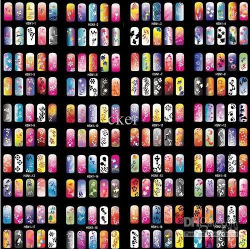 2013 Fashion Design Airbrush Nail Stencil Sheet For Airbrush Paint