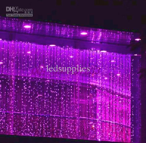 8*3 м 800LED огни полосы шнура Сид лампы занавес Рождество дома сад фестиваль белый свет