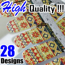Wholesale Nail Polish Stickers Strips - High Quality! 2013 Newest Shiny Nail Wraps Decal Nail Polish Strips Sticker Patch Foils Tips Decals