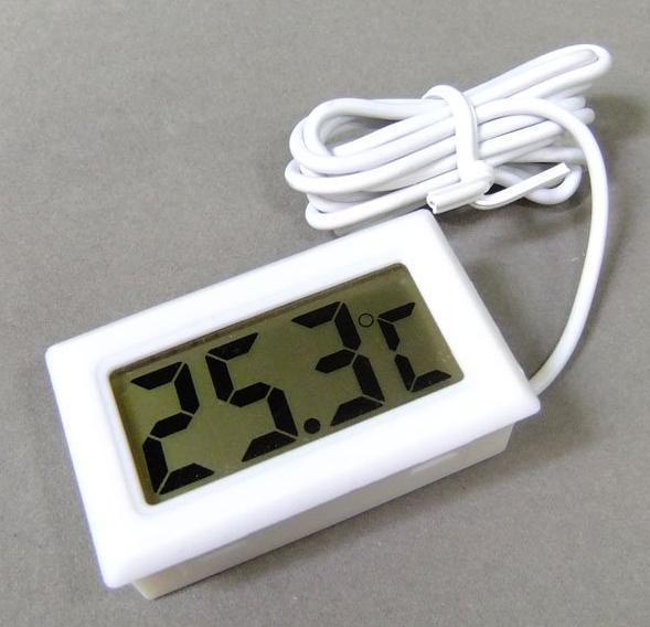 New mini geladeira digital freezer réptil medidor de temperatura do aquário do aquário do termômetro da bateria incluído Frete grátis