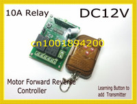 Wholesale Remote Control Switch Dc - Free Shipping 12V 2-channel wireless remote control switch for motor forward and reverse DC Motor Re
