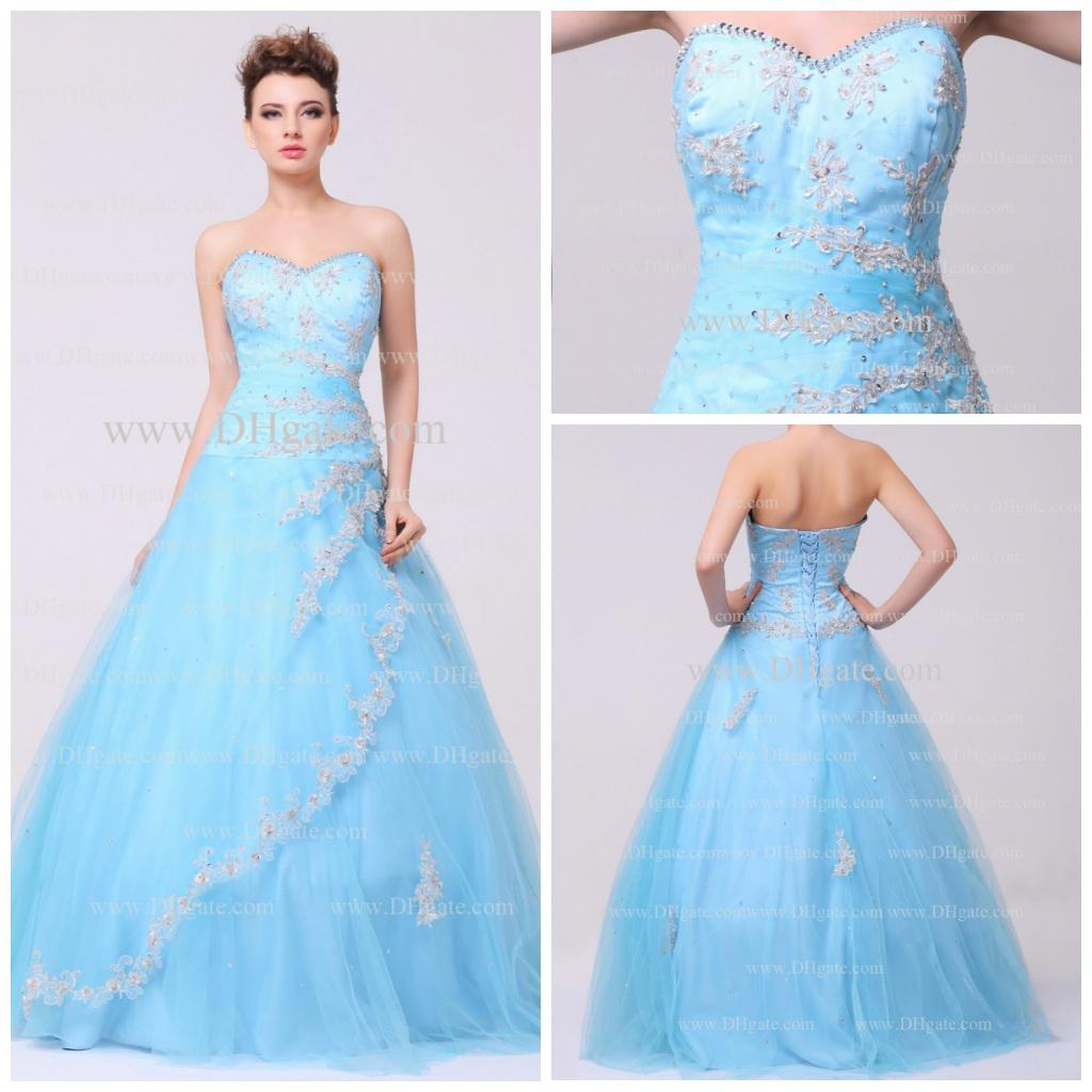 Light Blue Prom Dresses 2013