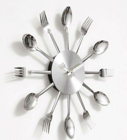 ems knife fork spoon originality clock kitchen restaurant wall clock wall clocks from dhgatecom