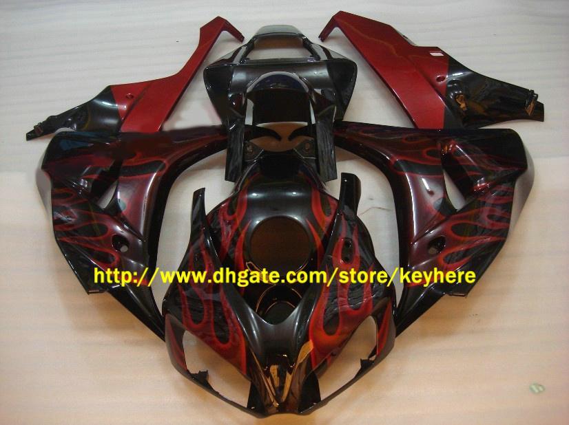 Wtryskiwanie wentylacji dla Honda CBR1000RR CBR 1000RR 06 07 2006 2007 Zestaw Flame Flame Darmowe prezenty