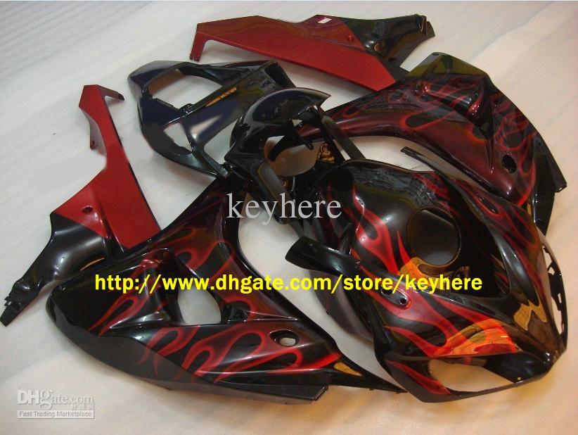 혼다 CBR1000RR CBR 1000RR 06 07 2006 2007 RED FLAME 페어링 키트 무료 선물용 페어링