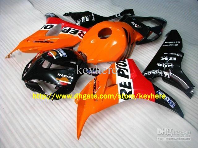 Motocycle Bodywork för Honda CBR1000RR 2006-2007 CBR 1000 RR 06 07 Orange Repsol Fairing Kit