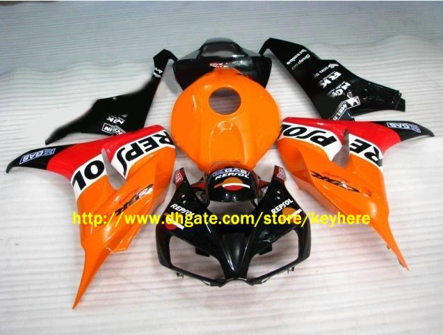 motocycle bodywork for HONDA CBR1000RR 2006-2007 CBR 1000 RR 06 07 Orange Repsol Fairing kit