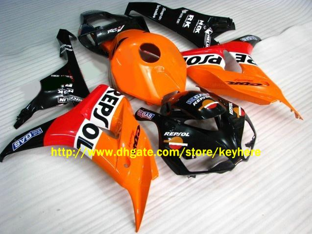 Motocyklowe nadwozie do Honda CBR1000RR 2006-2007 CBR 1000 RR 06 07 Orange Repsol Wording Kit