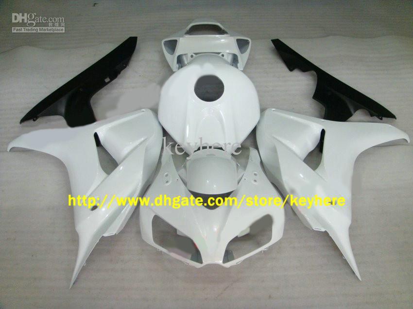 CBR1000RR 2006 2007 CBR 1000 RR 06 07、MotoCycle Body Fairingsのための注入の光沢のある白いフェアリングキット