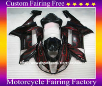 Wholesale 636 plastics kit resale online - High grade ABS plastic RED Flame fairing kit for ZX R Ninja ZX6R ZX636