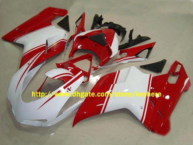 Carenagens de motocicleta personalizada de alta qualidade para Ducati 848 1098 1198 07-08 kit de carenagem de carroçaria ABS