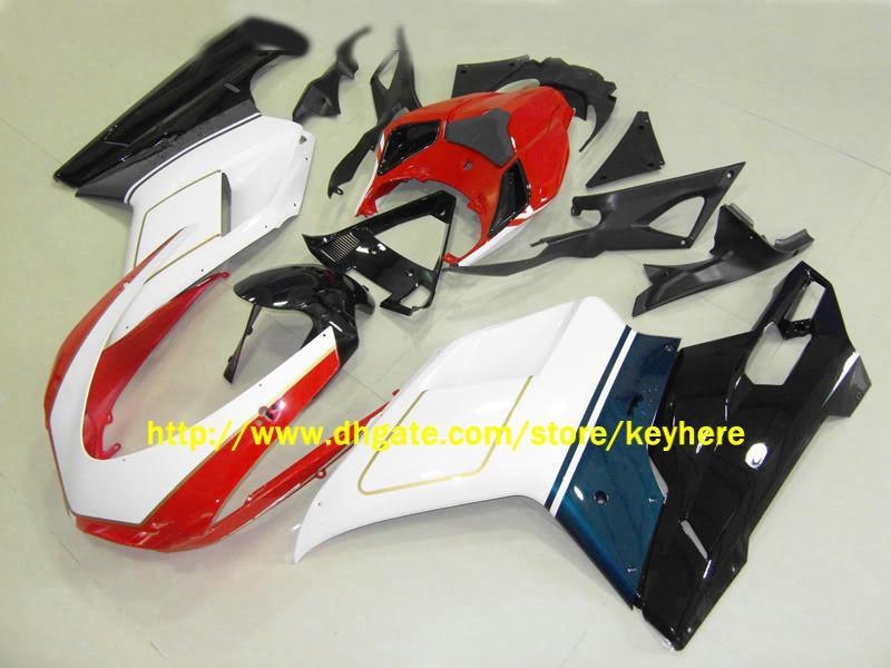 Alto grau personalizado corrida motocicleta carroçaria carenagem kit para 848 1098 1198 07 08,2007 2008 body work