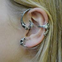 Wholesale Punk Ear Cuffs - New Arrival Moving mermaid ear cuff Fashion punk style Jewelry free shipping LM-C177