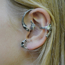 Wholesale Punk Ear Cuffs - New Arrival Moving mermaid ear cuff Fashion punk style Jewelry free shipping LM-C177