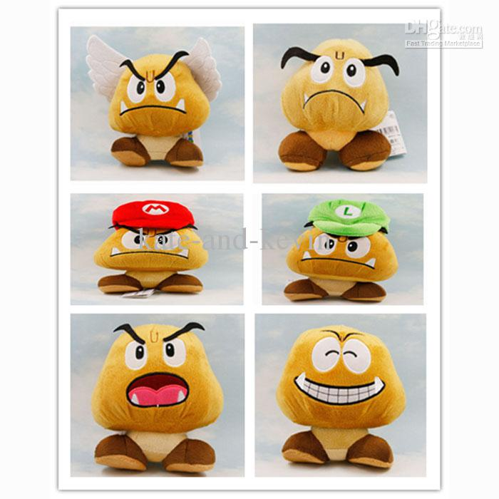 13126d96936 2019 Super Mario Plush Goomba Plush Doll Soft Toy Wing Hat Goomba Stuffed  Toys 6 From Kate And Kevin
