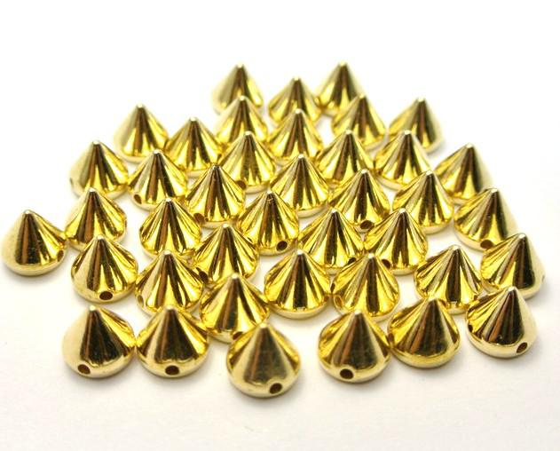 8mmx6mm Cône Goujons Spots Punk Rock Nailheads BRICOLAGE Pointes Sac Chaussures Bracelet