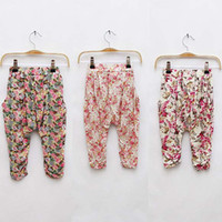 Wholesale Harem Plaid - Girl Clothes Fashion Trousers Children Summer Casual Pants Cropped Trousers Tapered Flower Pants