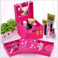 Wholesale Earrings Boxes Jewellery - CARRYING Jewelry Display Storage multideck bins Jewellery Box case necklace earrings rings boxes