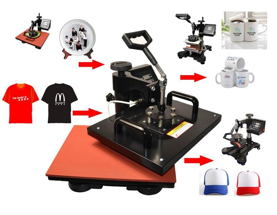 2019 Ce Approved Compliant 8 In 1 Combo Heat Press Machine
