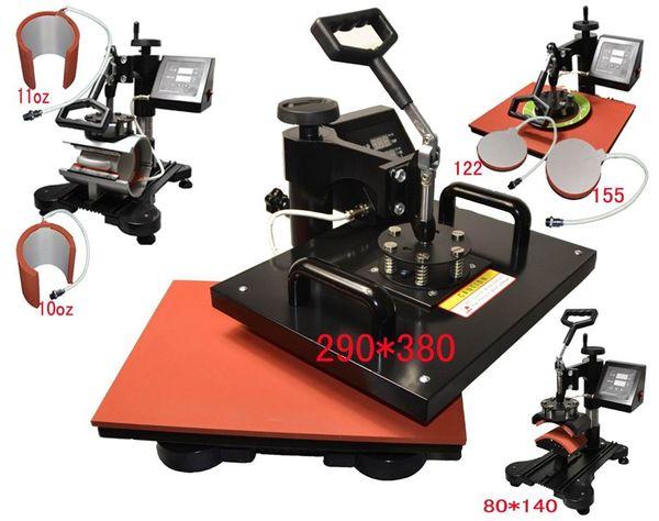 advanced 6 in 1 New Design Combo Heat transfer Machine, iphone case printing machine, heat press,mug/plate/t shirt heat press machine