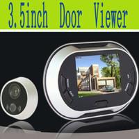 Wholesale Lcd Digital Peephole Door Bell - Digital Peephole Door Viewer + 3.5 Inch TFT LCD Screen+ door camera with door bell