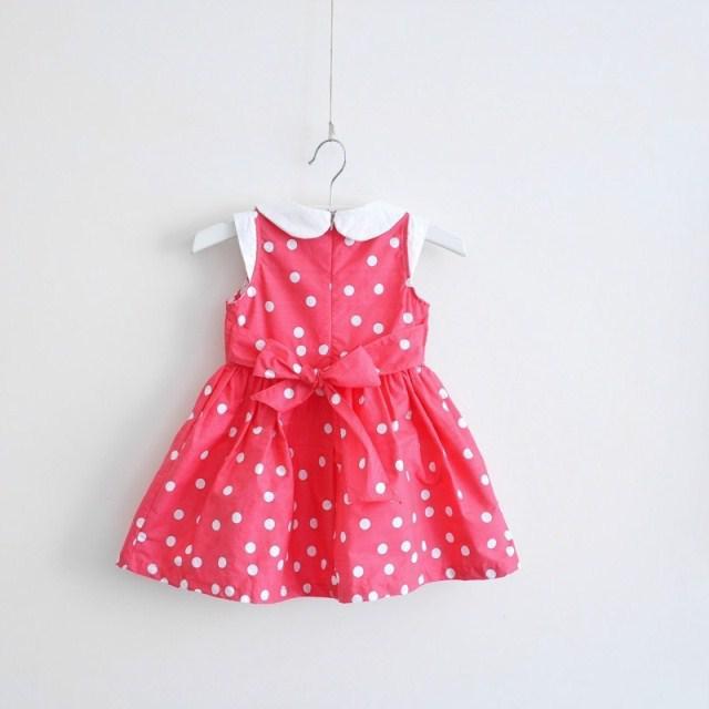 2013 Girls Dresses Girl Dots Doll Collar Cotton Children Dress Children's Clothing