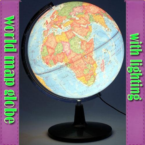 5 In 1 Lamp Light Lighting World Map Earth Globe Table Desk Bed ...