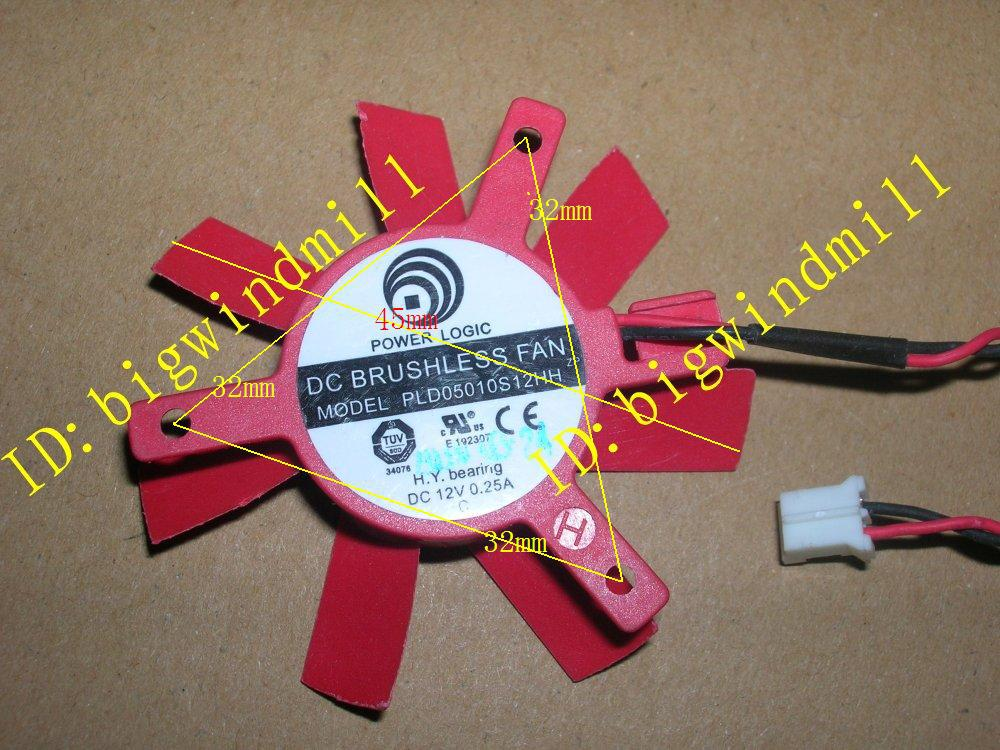 FREE SHIPPING PC graphics card Video Card VGA cooling fan POWER LOGIC PLD05010S12HH