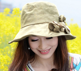 $enCountryForm.capitalKeyWord Canada - Miss Xia Tian flower UV protection sun hat visor big brimmed hat foldable A666